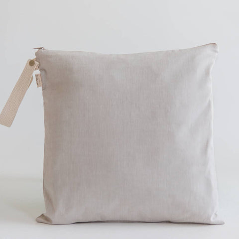 Organic Cotton Wet Bag - Pumice (Small)