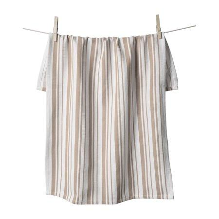 Center Stripe Towel - Taupe