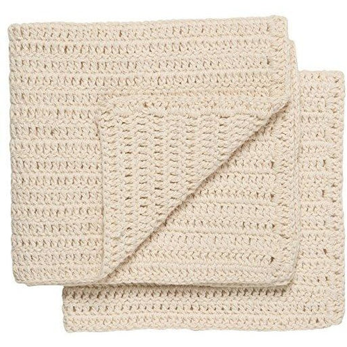 Cotton Hand Crochet Dishcloth - Natural - Ettiene Market