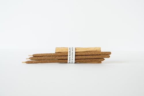 Incense Bundle - Palo Santo, Set of 3 Wood Sticks and 3 incense