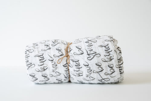 Baby Muslin Swaddle Blanket - Just Be