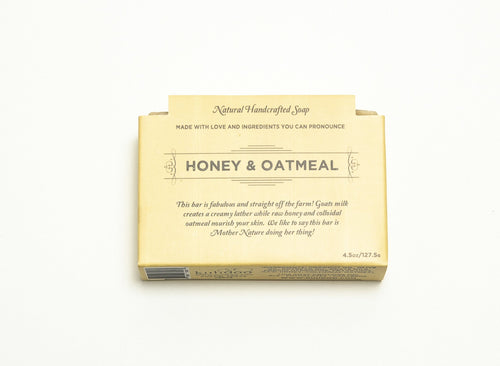 Kuhdoo Soap Bar - Honey & Oatmeal - Ettiene Market