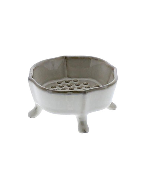 "Soap Dish - Brown Ceramic, 4"" - Ettiene Market"