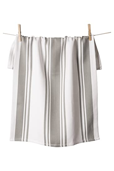 Everyday Cotton Center Stripe Towel - Taupe
