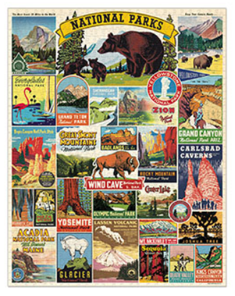 Cavallini Puzzle - National Parks, 1,000 pieces