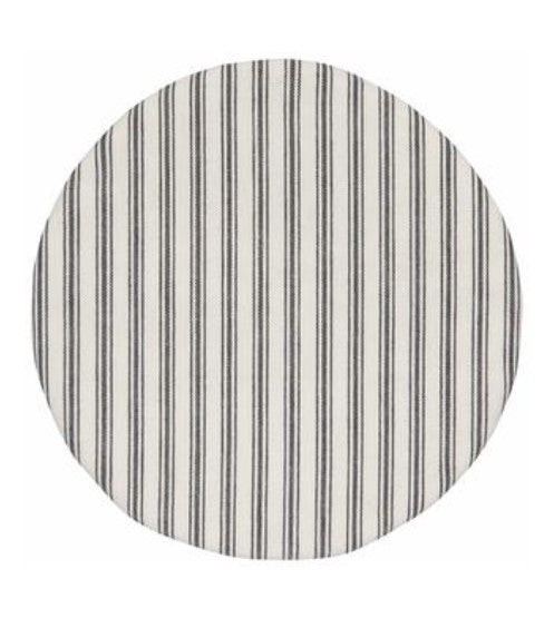 "Circle Bowl Cover - Tick Stripe, 10.5"" - Ettiene Market"