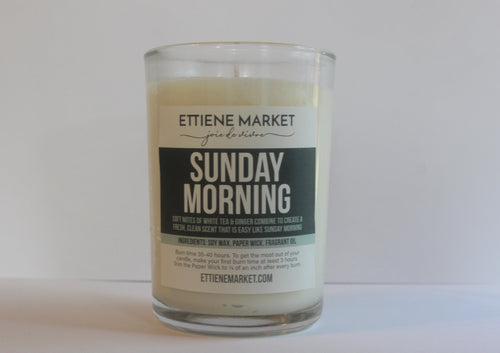 Ettiene Market Candle- Sunday Morning