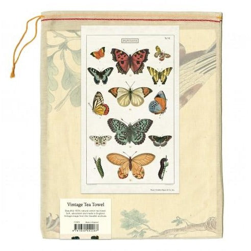 Cavallini Butterflies Tea Towel