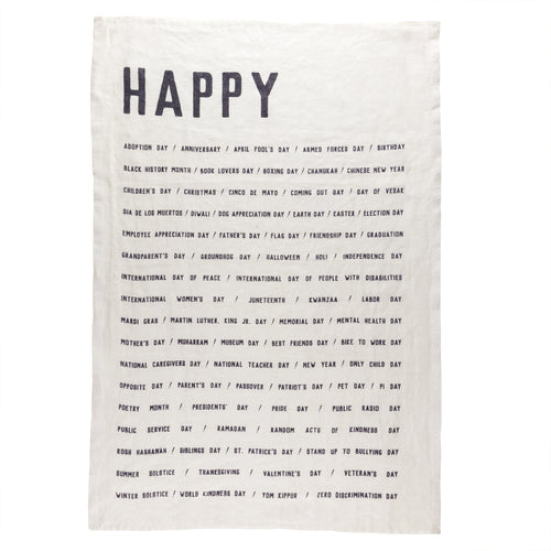 Sir Madam Tea Towel - Happy - Ettiene Market