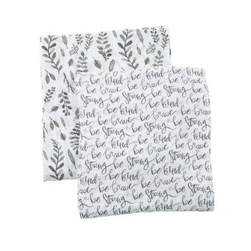 Baby Muslin Swaddle Blanket - Leaves