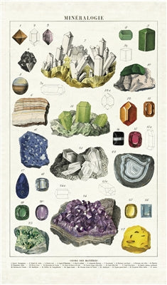 Cavallini Tea Towel - Mineralogy