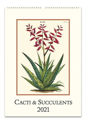Cavallini Wall Calendar - Cacti and Succulents, 2021