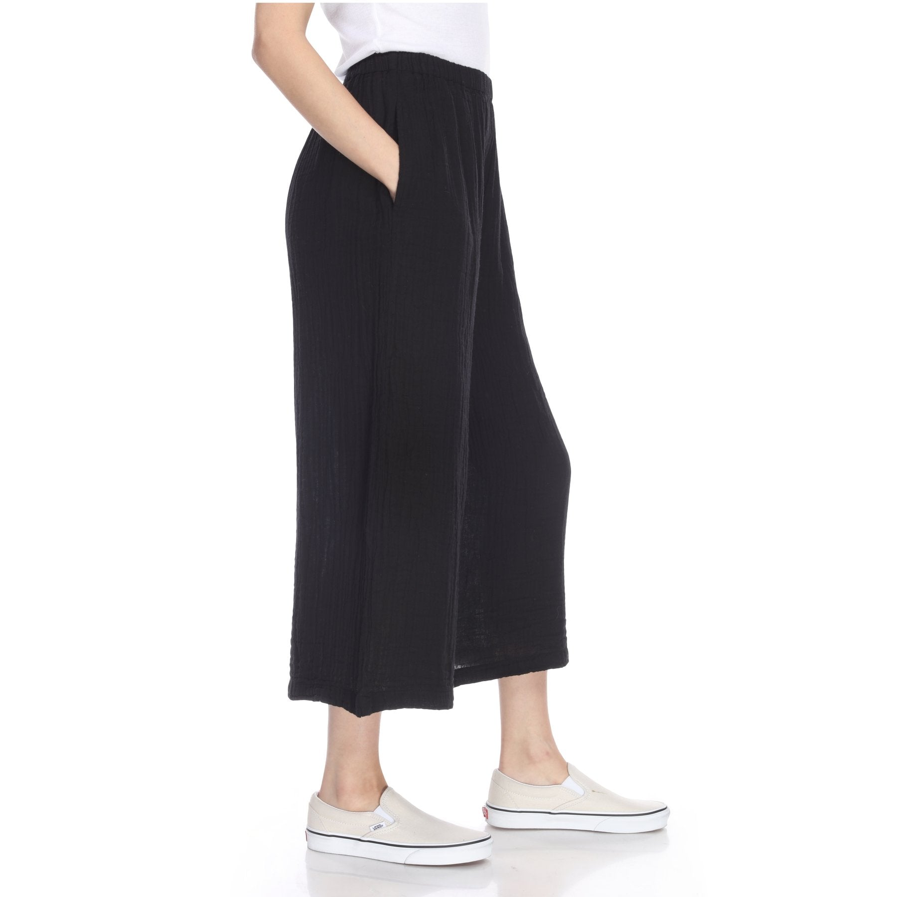 The Crop Palazzo Pant- Black