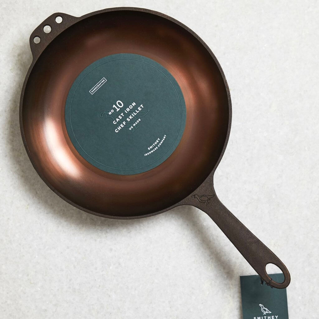 "Smithey 10"" Cast Iron Chef Skillet"
