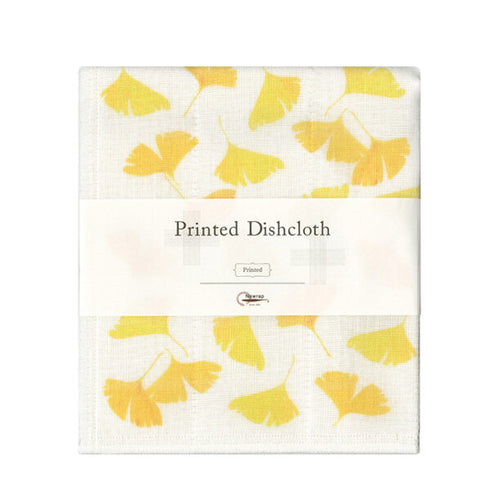 "Japanese Ginkgo Printed Dishcloth, 13.5"" x 16"""