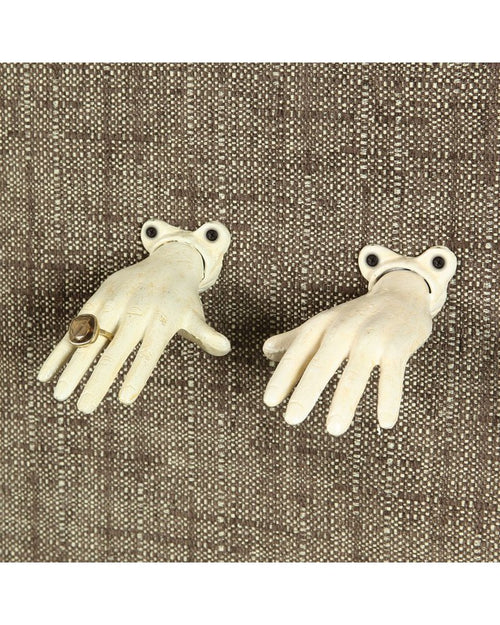 Cast Iron Open Right Hand - Antique White - Ettiene Market