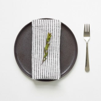 Black Stripe Linen Kitchen Towel - Ettiene Market