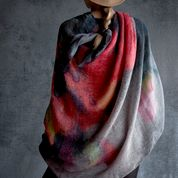 Martyn Thompson Dropcloth Scarf, Poppy - 100% Linen