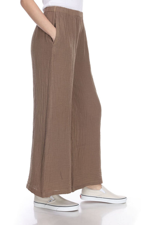 The Long Palazzo Pant- Taupe