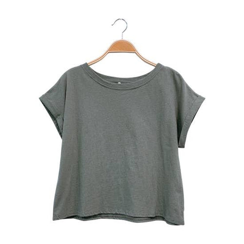 Recycled Plain Crop Tee - Olive