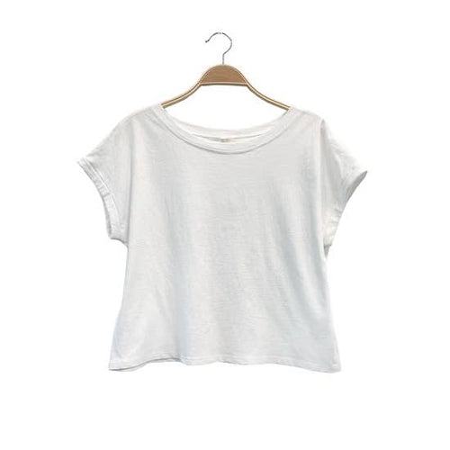 Recycled Plain Crop Tee - White