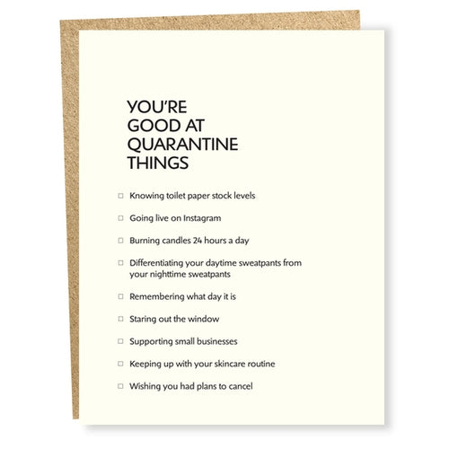 Quarantine Things Card