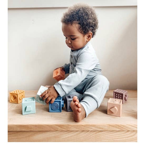 Educational Building Block Teethers and Bath Toy- Primary