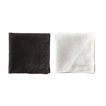 Linen Embroidered Handkerchief - Mama