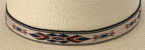 Hitched Webbing Hatband- Blue diamond