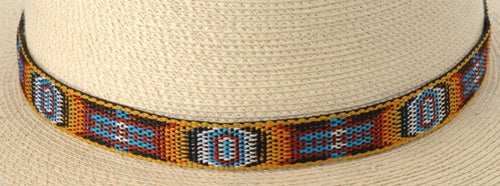Hitched Webbing Hatband- Circle of Eyes