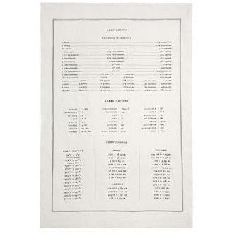 Sir Madam Tea Towel - Measuring Equivalents - Ettiene Market