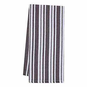 Linen Kitchen Towel - Vintage Natural w/Grey Stripe