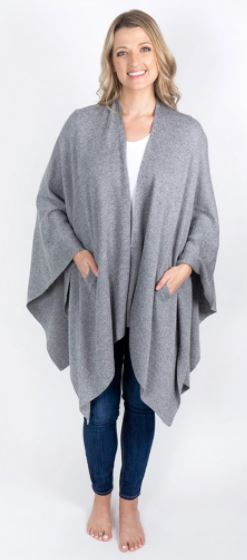 Organic Cotton Travel Wrap- Grey