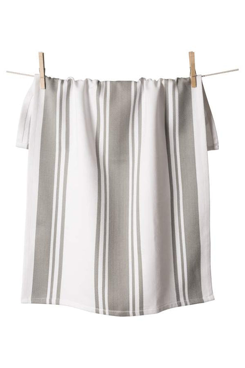 Center Stripe Towel - Light Grey - Ettiene Market