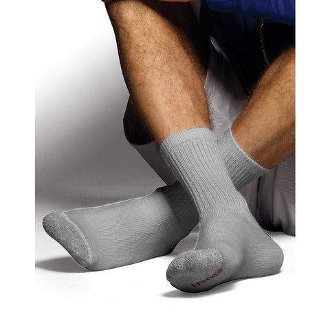 Hanes Classics Men's ComfortSoft Crew Socks Grey 6-Pack|Size 10-13|Color Grey
