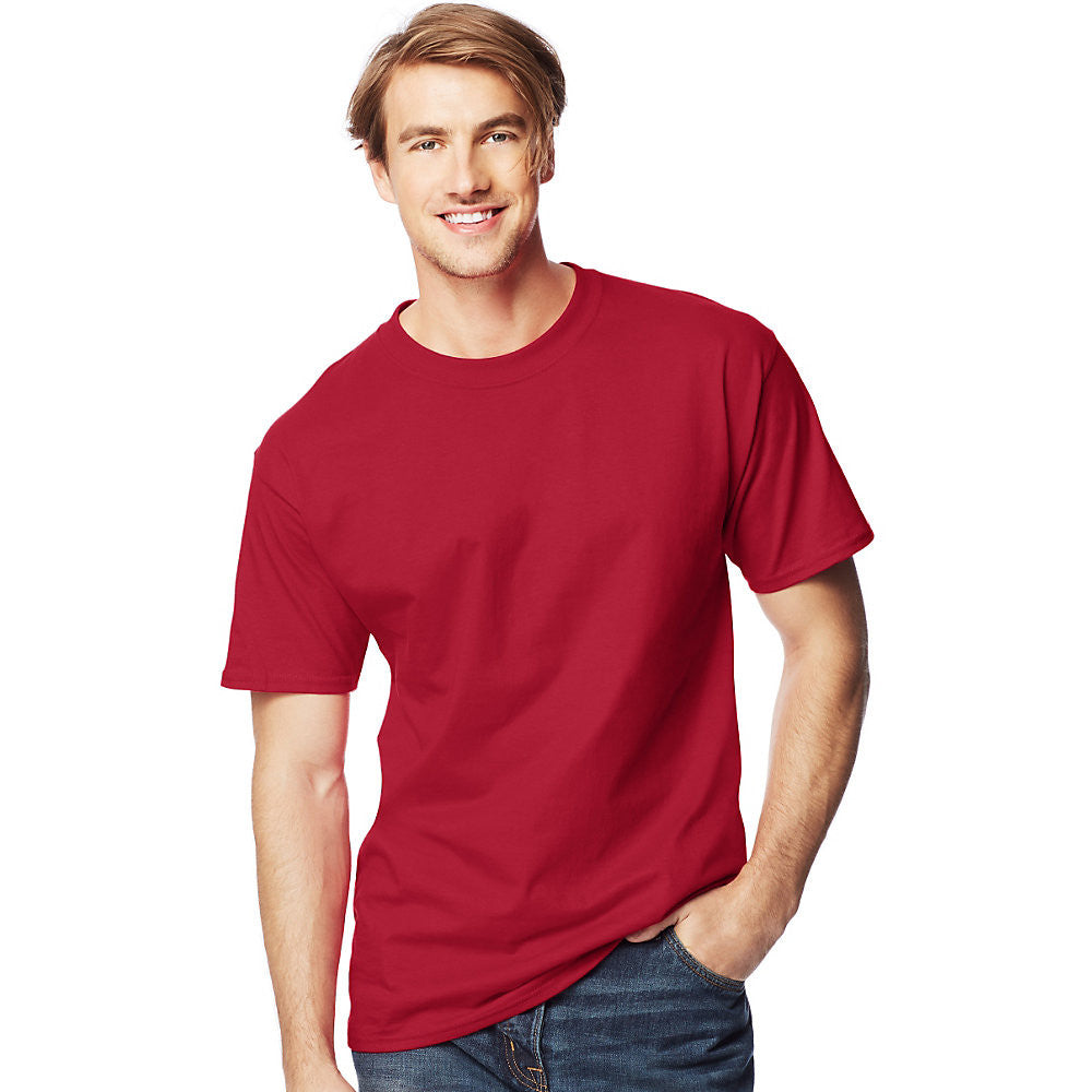 Men's Beefy-T Tall T-Shirt|Size LT|Color Deep Red
