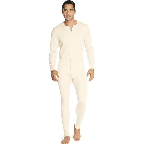 Hanes Men's X-Temp™ Thermal Union Suit|Size L|Color Natural