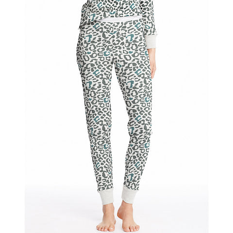 Hanes Women's X-Temp™ Thermal Printed Pant|Size S|Color Snow Leopard