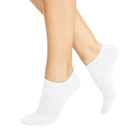 Hanes Women's No Show Socks 10 Pack|Size 9-11|Color White