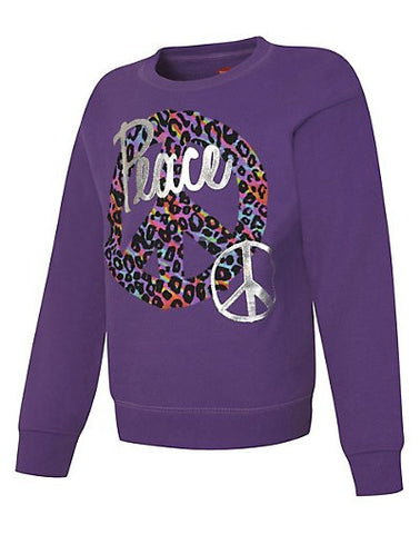 Hanes EcoSmart Girls' Peace Crewneck Sweatshirt