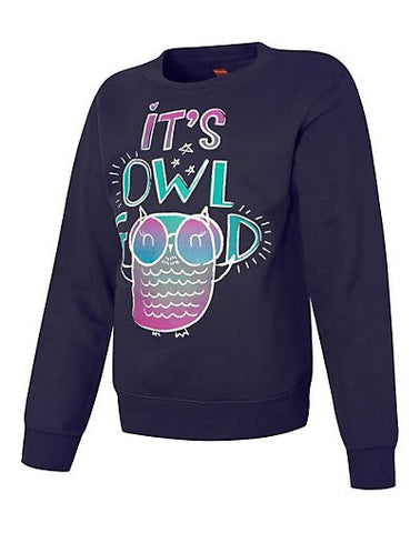 Hanes EcoSmart Girls' It's Owl Good Crewneck Sweatshirt