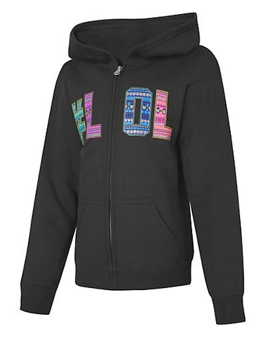 Hanes EcoSmart Girls' #LOL Full-Zip Hoodie Sweatshirt