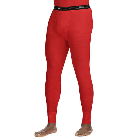 Hanes X-Temp™ Men's Organic Cotton Thermal Pant|Size S|Color Red