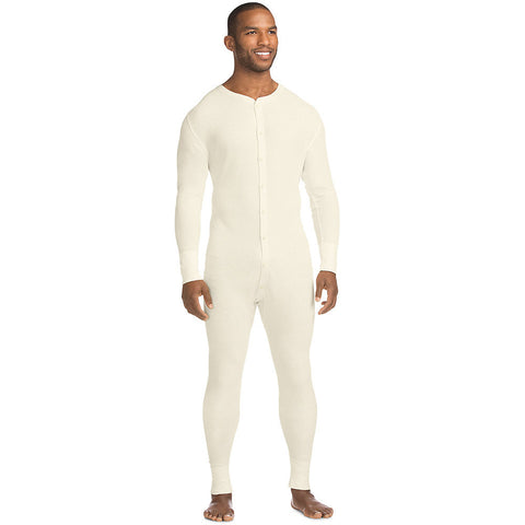 Hanes X-Temp™ Men's Organic Cotton Thermal Union Suit 3X-4X|Size 3XL|Color Natural