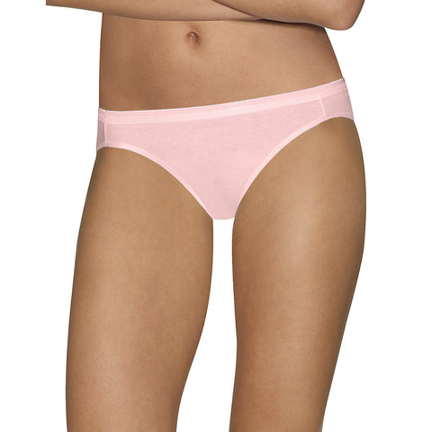 Hanes Ultimate™ Comfort Cotton Women's Bikini Panties 5-Pack|Size 5|Color Pink + White