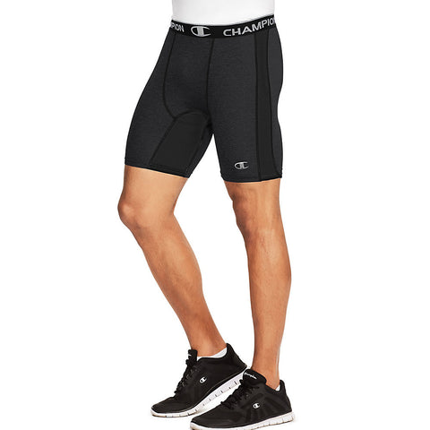 Champion PowerFlex Men's Solid Compression Shorts|Size S|Color Black