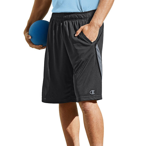 Champion Fast Break Men's Shorts|Size M|Color Black Heather/Black/Stormy Night