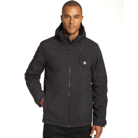 Champion Men's Big Technical Ripstop 3 in 1 Insulated Jacket|Size 2X|Color Onyx