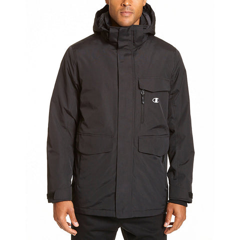 Champion Men's Big High Performance 2-Layer Jacket With Sherpa Lining|Size 2X|Color Black