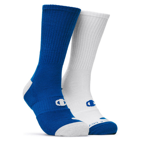 Champion Men's Basketball Crew Socks 2-Pack|Size 6-12|Color Assortment 1